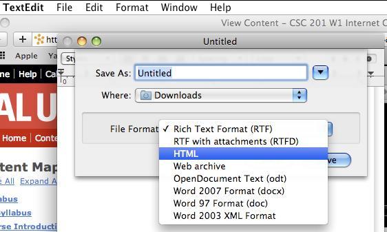 Mac Tools for CSC201